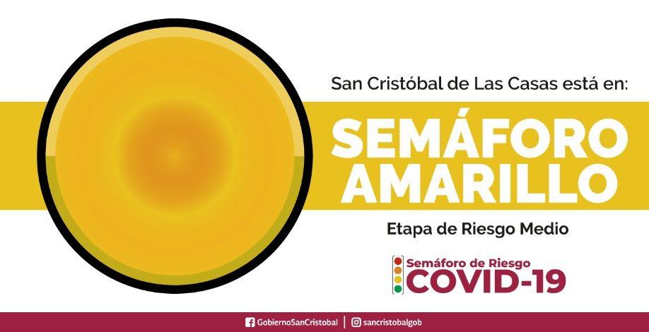 Semáforo Amarillo de COVID19 en San Cristóbal de Las Casas